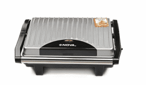 Nova NSG 2449 1000 Watt Panini Sandwich Grill Maker (Black / Grey)