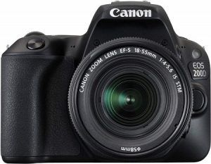 Canon EOS 200D 24.2MP Digital SLR Camera with EF-S 18-55 mm is STM Lens and EF-S 55-250 mm is STM Lens / Camera Case