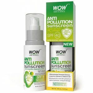 WOW Anti Pollution SPF 40 Water Resistant Oil Sunscreen, 100ml
